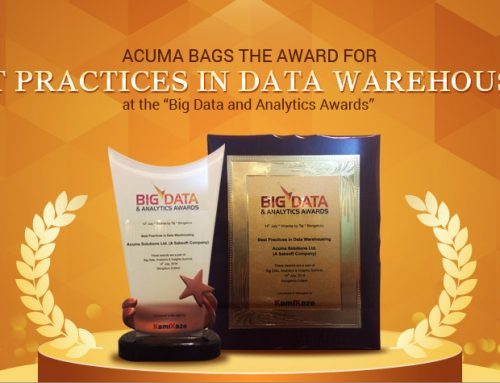 "Acuma bags ""Best practices in Data Warehousing"" award at the ""Big Data & analytics Awards"""
